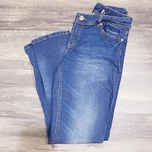Cato Swiss Dot Print Straight Jeans 2